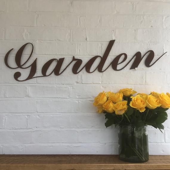 Rusty GARDEN Lettering Letters Sign Metal Home bar Pub Vintage Wedding Pub Beer
