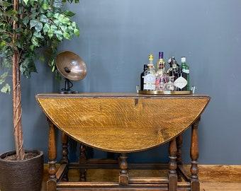 Vintage Oak Table / Drop Leaf Table / Rustic Oak Sideboard / Extending Table