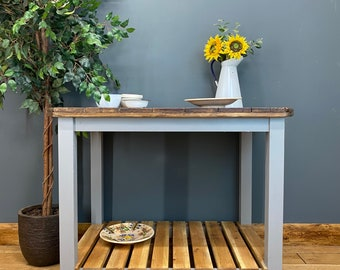 Rustic Kitchen Island / Upcycled Cable Drum / Kitchen Table / Rustic Sideboard