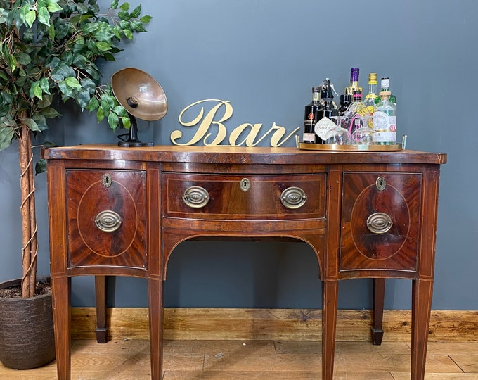 Antique Mahogany Sideboard / Buffet Server / Victorian Sideboard /Drinks Cabinet