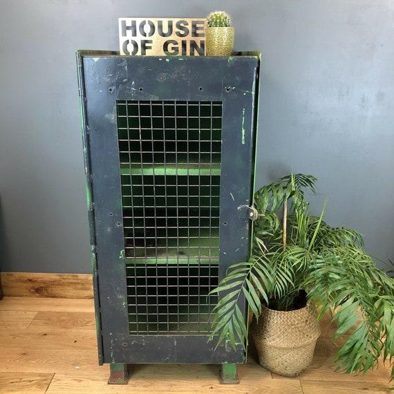 Vintage Industrial Heavy Duty Cupboard Metal Pantry Storage Rustic