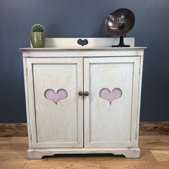 Upcycled Wooden Vintage Shabby Chic Rustic Cupboard Storage Cabinet Unit