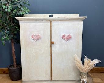Large Linen Cupboard/ Vintage Cupboard /Painted Cupboard /Cocktail Cabinet /Bar