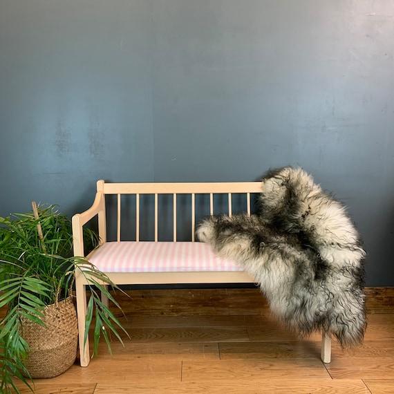 Vintage Wooden Bench Seating Seat Chair Cafe Barbershop Nail Bar Salon
