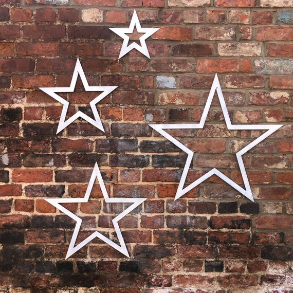 4 Stars Sign set Metal Shabby Chic Rustic Decoration House Home Garden Feature Traditional Vintage Barn