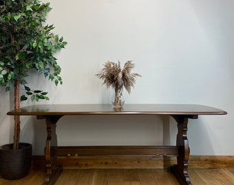 Vintage Large Ercol Refectory Table /Elm Dining Table /Mid Century Kitchen table