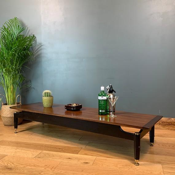 Vintage Retro Mid Century Modern G Plan Librenza Coffee Table Lounge Long Teak