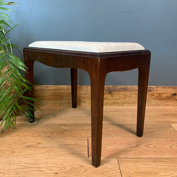 Retro Vintage Stag Dressing Table Piano Stool Seat Upholstered Chair