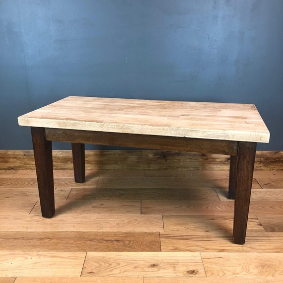 Large Oak Coffee Table Shabby Chic Country Farmhouse Rustic