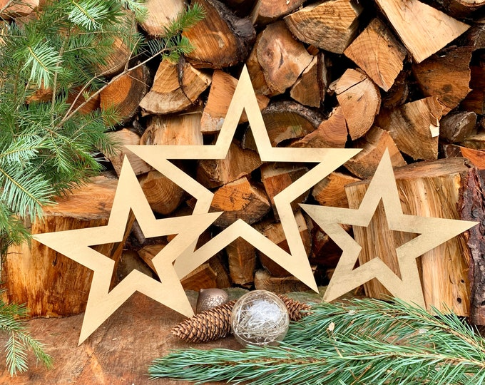Rustic 3 X Gold STARS , rustic Christmas decorations ,  Nordic decoration , xmas decor , barn stars , christmas house decorations ,