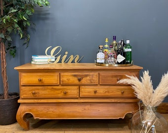 Vintage Sideboard / Rustic TV Stand / Console Table / Chest Of Drawers