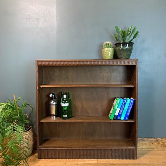 Rustic Vintage Bookcase Shelves Shelving Storage Oak Cocktail Drinks Shelf