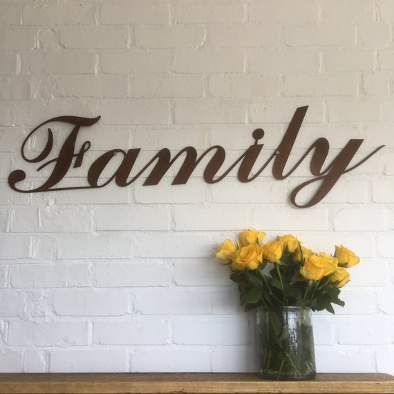Rusty FAMILY Lettering Letters Sign Metal Home bar Pub Vintage Wedding