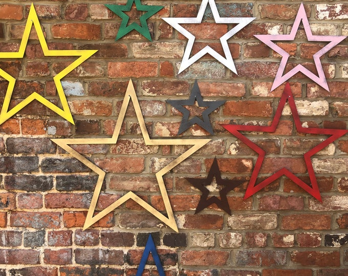 METAL STARS , barn stars , Shabby Chic , Rustic Home Decor , Wall decor , Boho , garden ornaments , garden feature , 4 SIZES to Choose from
