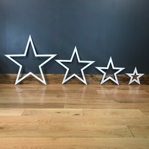 4 Stars Industrial Rusty Sign Metal Shabby Chic Rustic Christmas Decoration