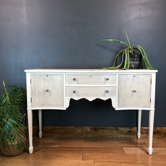 Vintage Server Painted Upcycled Shabby Chic Sideboard Cabinet Cupboard Boho