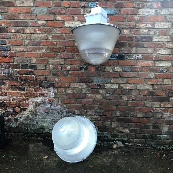 2 Vintage Large  Industrial Factory Lamp Light Rustic Lighting Restaurant Shop