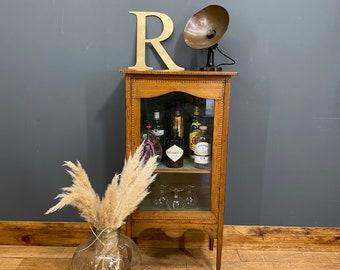 Vintage Glazed China Cabinet / Gin Cupboard /Curiosity Cabinet /Display Unit