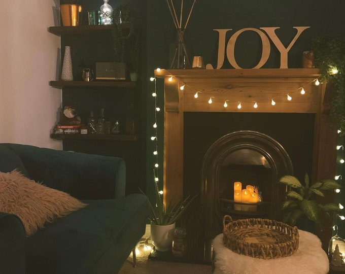 """GOLD LETTERS / Christmas gift  / Christmas lounge decor / metal lettering / Personalised initials / Christmas present 5"""" or 12"""""""