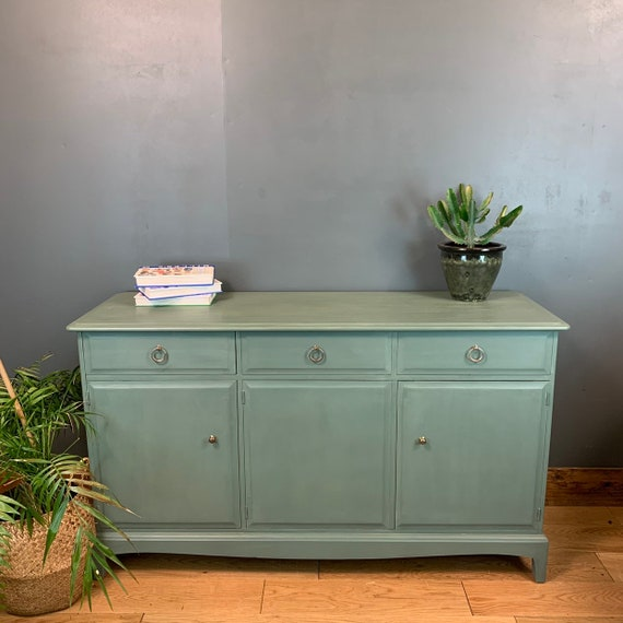 Vintage Stag Cupboard Upcycled Mid Century Sideboard Retro Drawers Cupboard