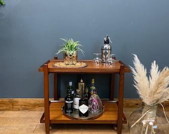 Retro Teak Trolley /Mid Century Cocktail Trolley/ Drinks Trolley /Cocktail Bar