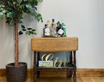 Vintage Tea Trolley /Oak Sideboard / Drinks Trolley / Cocktail Bar / Side Table