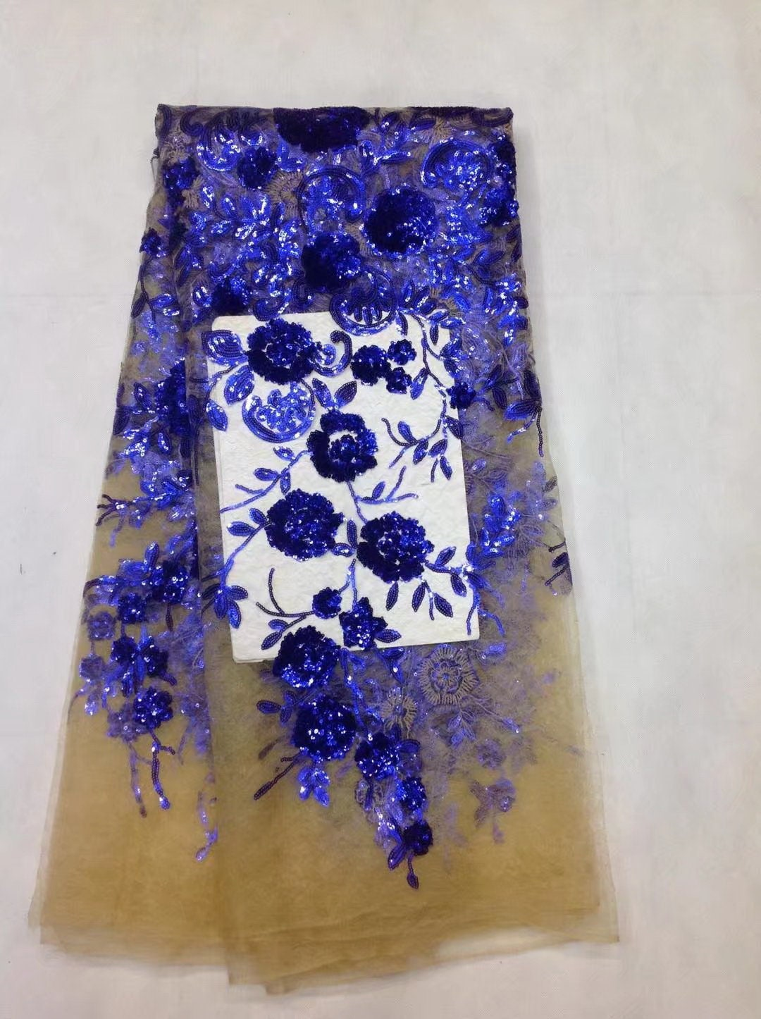 502bd7e4a18fc African Net Sequins Laces 5yard Latest Nigerian Laces 2018 blue Colour  Sequin Fabric for Sewing Dress Tulle Lace Fabric X1963