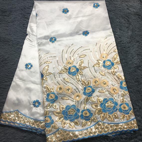 ef773954c36d0 Tissu de dentelle George africain de bonne bonne bonne qualité avec de la  broderie de sequins ...