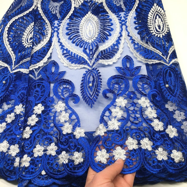 2019 Latest French Nigerian Laces Fabrics High Quality Tulle African Laces Fabric Wedding African French Tulle Lace 5yards free shipping