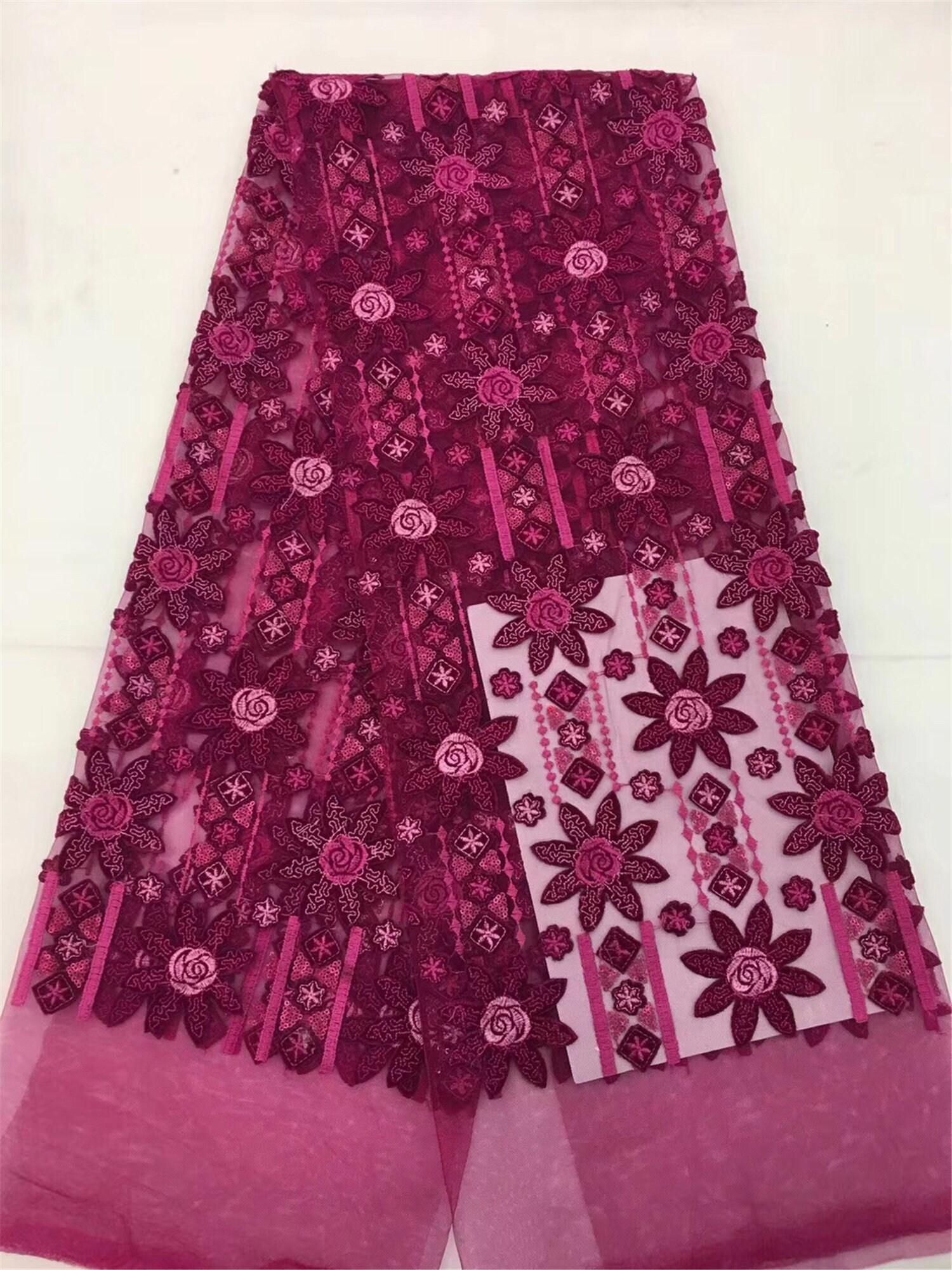 Livraison gratuite africain dentelle tissu 2018 qualité haute qualité 2018 Français velours dentelle tissu avec perles dentelle tissu pour mariage fête CD2671 a55aa5