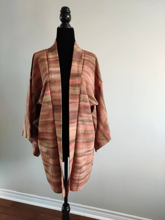 Japanese Silk Kimono Haori Jacket/ Silk Jacket/ Ki