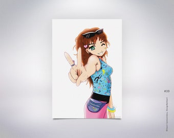 Anime Peace Sign Etsy