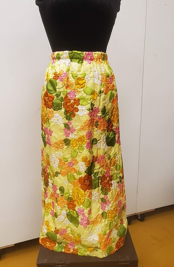 Vintage 1960's/70's Adelaar Quilted Floral Skirt,