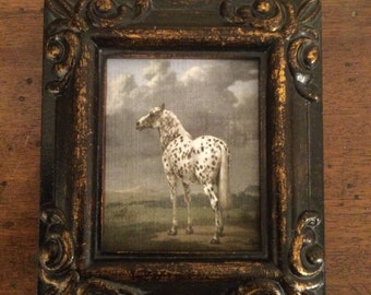 HAND PAINTED MINIATURE On Print of horse.