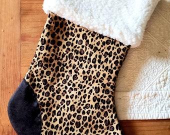 Chetah Design Polar Fleece Christmas Stocking