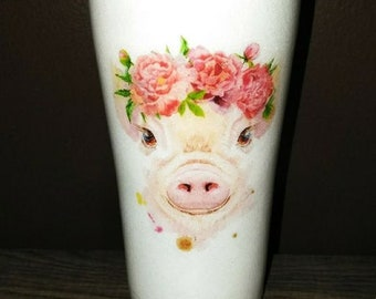 Pig With Glasses Etsy