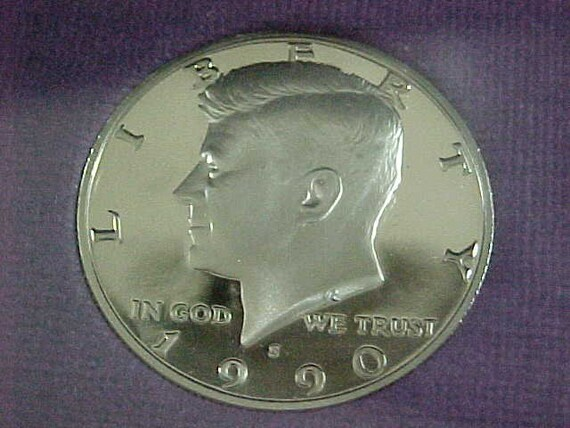 1990 S Gem Proof Kennedy Half Dollar US Coin