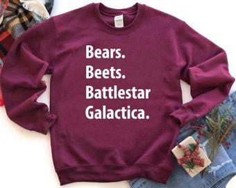 Bears Beets Battlestar Galactica Sweater Etsy