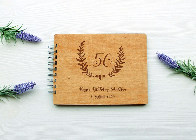 Birthday guest book Birthday Book personalised guest book Birthday wood photo album photo book birthday memory book custom party guestbook