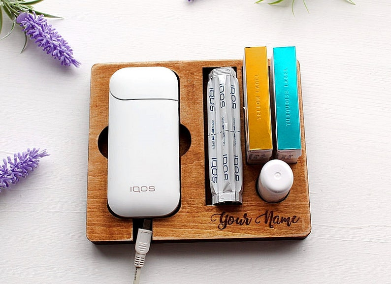 IQOS, IQOS wooden stand, charging station Heets, case handmade IQOS,  accessories Iqos, gift for smoker Iqos, Iqos kit, Heets cigarette case