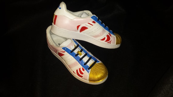 1 pair customized Adidas superstars