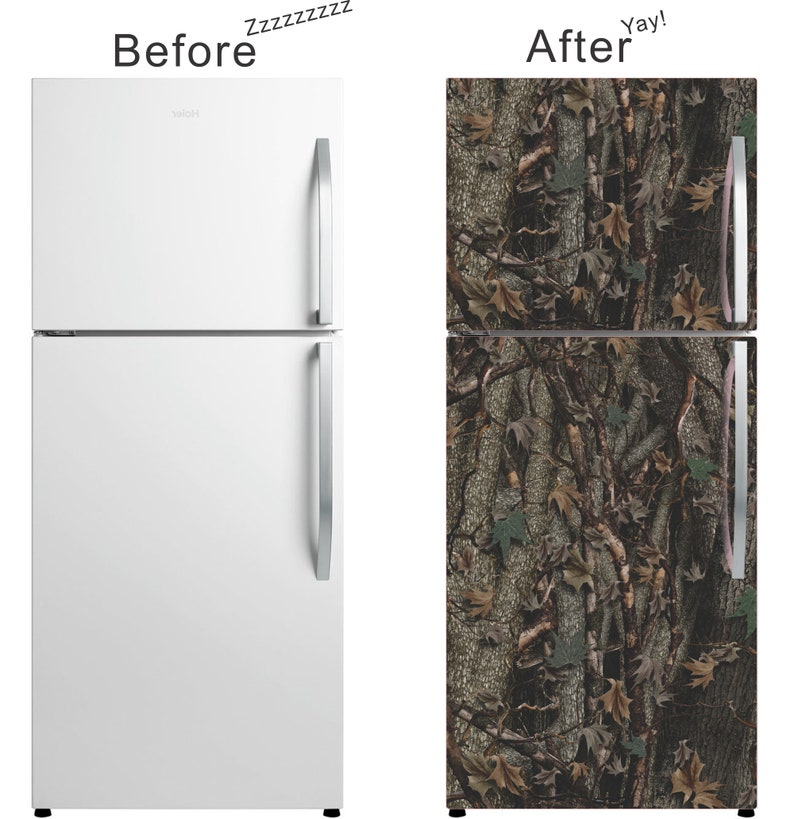 Full Size Magnetic Camo Fridge Skin Cover - Give your kitchen a new look or  spruce up your garage refrigerator!
