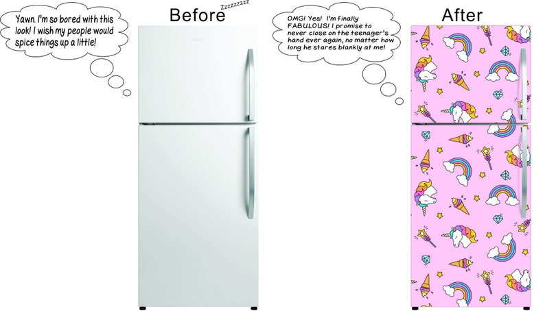 2b551a28e29 Magnetic Fridge Skin Give your old refrigerator a new look