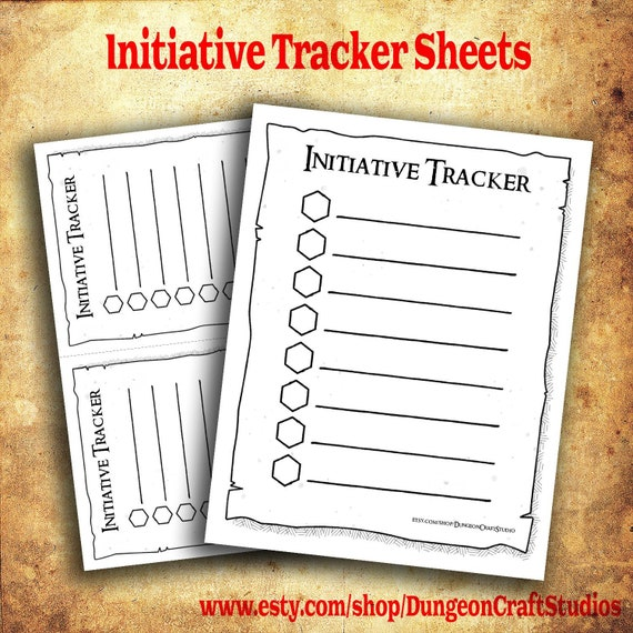 picture relating to Printable Initiative Tracker referred to as Initiative Tracker DM Equipment RPG DnD