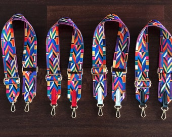 Valentino Inspired Printed Woven Wide Crossbody Luggage Purse Shoulder Bag  Strap 4c2edf222a7de