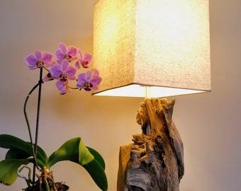 Wood Block Lamp Etsy