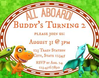 Dinosaur Train 2nd Birthday Invitation