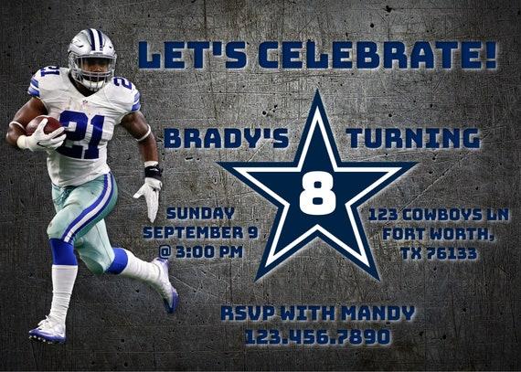 Dallas cowboys birthday invitation cowboys birthday etsy image 0 filmwisefo
