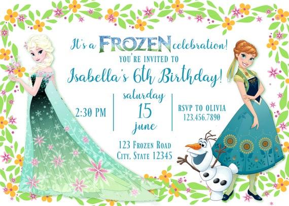 Frozen Fever Anna And Elsa Birthday Invitation Frozen Anna And Elsa Birthday Invitation Spring Elsa Birthday Invitation For All Ages