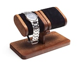 Wood Watch Stand with box, wooden watch display for men, wood watch holder, watch storage, watch box gift for him, personalized gift
